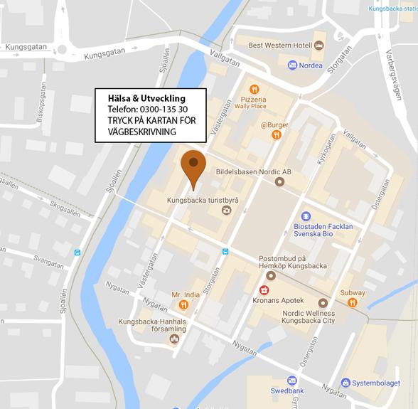 Karta över Kungsbacka Centrum